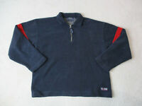 VINTAGE Tommy Hilfiger Sweater Adult 2XL XXL Blue Red Fleece Spell Out Mens 90s