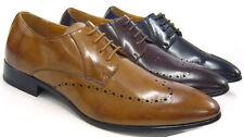 Herren-Business-Schnürschuhe aus Kunstleder mit Spitze