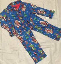 Nintendo 's SUPER MARIO Santa Christmas Pajamas Boys Size 4 6 8 10  Yoshi