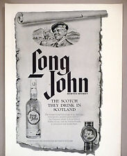 "Long John Scotch Whiskey PRINT AD - 1963 ~ Large 10"" x 14"""