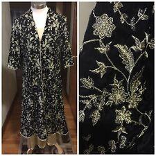NWOT Pakistani Party Wear Embroidered Velvet Coat With Shamoze Silk Inner Large