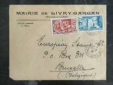 1938 France COver to Brussells Belgium # 324 B46