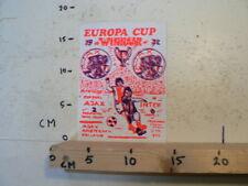 STICKER,DECAL VINTAGE AJAX INTER 2-0 EUROPA CUP WINNAAR 1972 FEYENOORD STADION 3