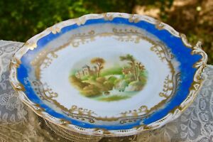 Antique 19th C. W. Adams Stoke Upon Tren Staffordshire Footed Tazza Compote Dish