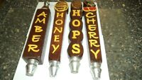 Home made Beer Tap Handles Folk Art Set of Four