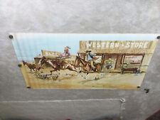 Vintage Nocona Western Boot Advertising Poster/Sign.1960s Artist Lex Graham. (1)