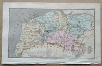 1808; Cumberland county map (small); England; Capper/Phillips; Hand coloured.