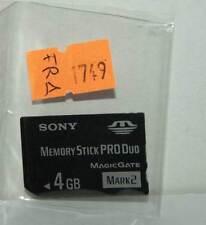 MEMORY STICK PRO DUO MARK 2 4 GB PER PSP 1004 - OTTIMO STATO ORIGINALE FR1