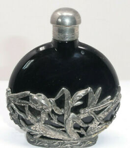 First Impressions Pewter Mounted Glass Scent Perfume Bottle