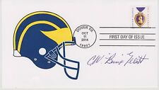 SIGNED COACH BUMP ELLIOTT AUTOGRAPHED FIRST DAY COVER MICHIGAN WOLVERINES