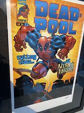 Stan Lee firmado Poster Deadpool. 91x70cm
