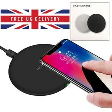 Fast Qi Wireless Charger Pad For Samsung S7 S8 S9 Apple iPhone 8 X 10 Dock Plate