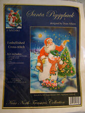 Near North Treasures Santa Piggyback Embellished Cross Stitch Kit
