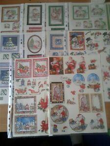 Christmas Decoupage Sheets, 16 full sheets, may be duplicates