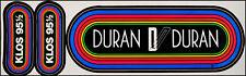 Duran Duran Vintage 80's KLOS Rainbow Concert Bumper Stickers LA Radio