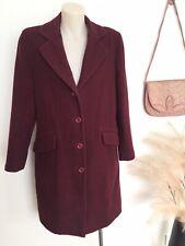 Vintage Capture Burgundy Maroon Wool Coat 10 M Wine Woolen