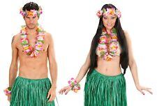 Collier hawaïen bandeau bracelet deguisement homme femme fleurs accessoire set