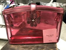 Kate Spade Sabine Pink Glitter Double Compartment Cosmetic Bag Wlru5812