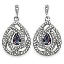 Exclusive 2,76 Carat mystiktopas, Zirconia Ear Studs, 925 Silver Earring, Top