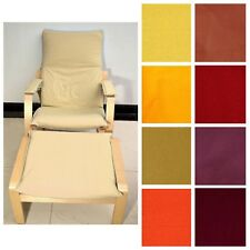 NEW (EASY FIT Slipcover) NO ZIPPER-Tailor Made For IKEA Poang Arm Chair Aa3