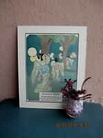 antique illustration of Japanese dancers and lanterns by Katharine Sturges 1925