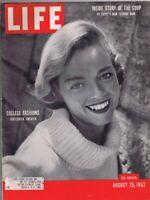 ORIGINAL Vintage Life Magazine August 25 1952 College Fashion