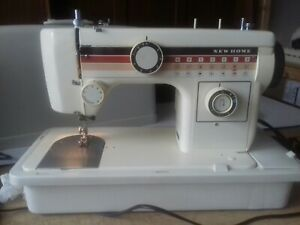 Janome New Home Model 602 Sewing Machine Vgc Fully Working.