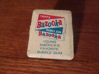 Vintage Topps Bazooka Bubble Gum Advertising Metal Clip ~ Retro Candy Art
