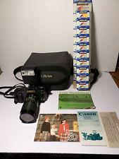 Canon T50 35mm SLR Film Camera & Lenses - NICE - TESTED