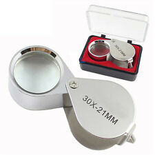Faltbar Einschlaglupe 30x 21mm Perlen Lupe Jeweler Eye Jewelry Loupe Magnifier