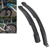2pcs Bike Rear Front Mountain Bicycle Mud Guard Mudguard Fenders Set Black