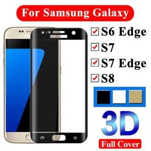 3D Courbé Verre Trempé Protecteur Pour Samsung Galaxy S6 edge S7 Bord S8 Plus S9