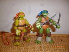 Lot 2 Tortue ninja leonardo mike teenage mutant turtles tmnt nickelodeon 2012