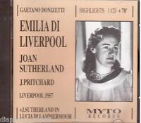 Donizetti: Emilia Di Liverpool / Pritchard, Sutherland, Liverpool 1957 - CD Myto