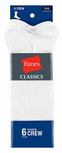 Hanes Mens 6-pk. Classics Athletic Crew Socks