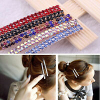 Delicate Women's Crystal Rhinestone Hair Clip Barrette Hairpin Bobby Pin Jewelry
