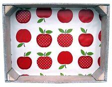 SERVIERTABLETT Holz Tablett Alte Gemüsekiste Obstkiste Deko Shabby Chic - Apfel
