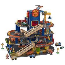 KidKraft Deluxe 4 Level Detailed Wooden Car Garage 32 Piece Kids Playset | 63600