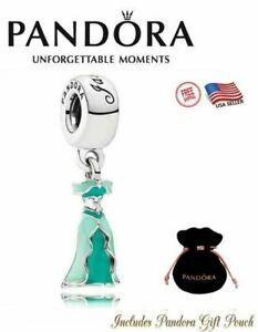 Authentic Pandora S925 Disney Princess Jasmine's Dress Dangle Charm 791791ENMX