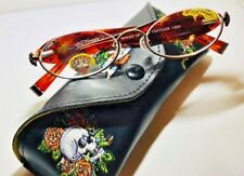Don Ed Hardy Vintage Tattoo Reading Glasses New with Swarovski Crystals $129