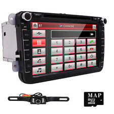 "HIZPO 8"" Car DVD Player Radio Stereo Touch GPS SD for VW Passat B6 Golf Tiguan"