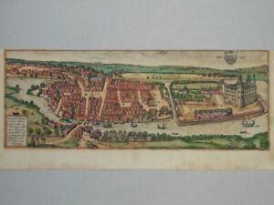 Haderslebia - kol. Radierung Hadersleben Dänemark Braun Hogenberg Civitates 1580