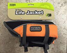 "Kyjen Outward Hound Dog Pet Life Jacket XS Orange 15""-19"" Girth 11-18lbs"