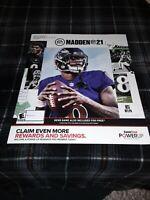 Gamestop Exclusive Promo Madden 21 Poster
