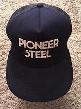 Vintage Pioneer Steel Blue SnapBack Baseball Cap, Made In USA