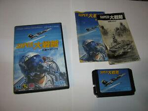 Super Daisenryaku Sega Mega Drive Japan import boxed + manuals US Seller