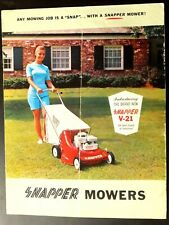 Vintage Brochure 1968 Introducing The Brand New Snapper V-21 Lawn Mower