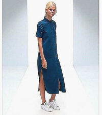 NWT Designer $90 Premium DENIM Maxi Ankle SHIRT DRESS French Blue by Asos