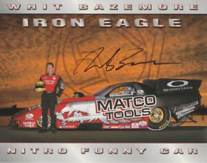 2002 Whit Bazemore signed Matco Tools 2nd issued Dodge Charger FC NHRA postcard