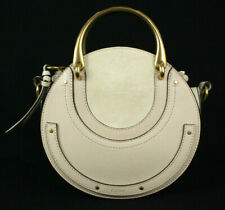 CHLOE $1,550 NWT Abstract White Suede & Leather Small PIXIE Bag GHW